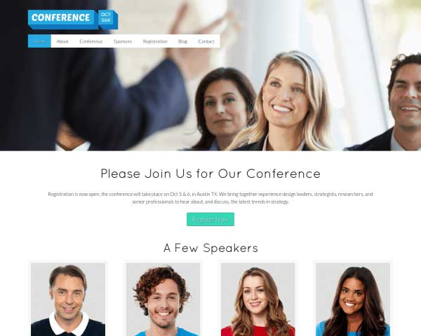 Conferentie WordPress Theme thumbnail