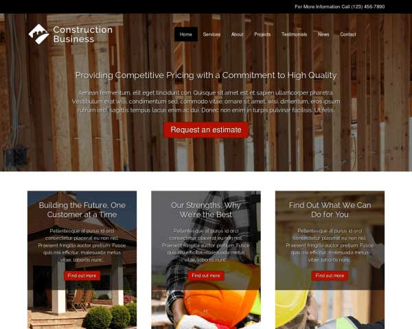 Construction Business WordPress Theme thumbnail