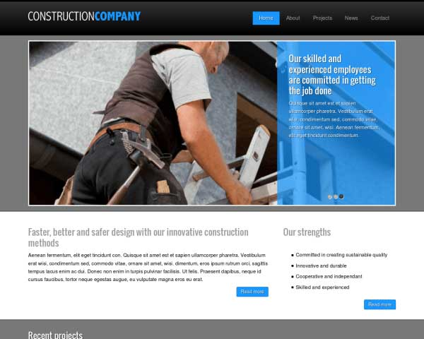 Construction Company WordPress Theme thumbnail