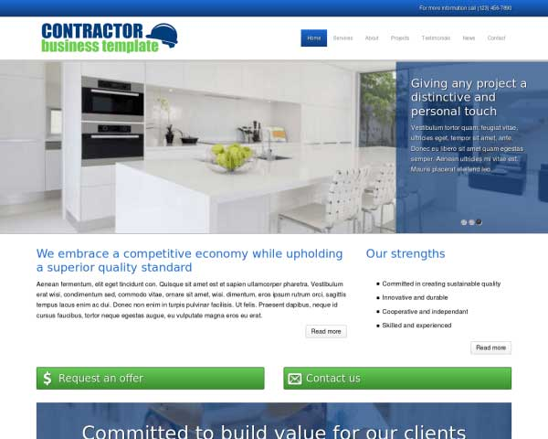 Contractor WordPress Theme thumbnail