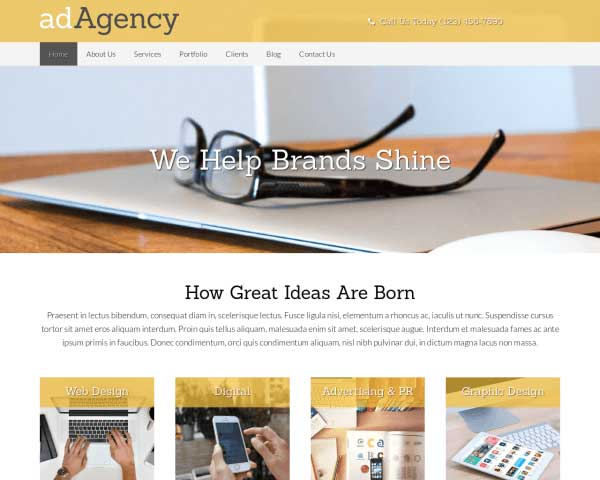 Advertentiebureau WordPress Theme thumbnail