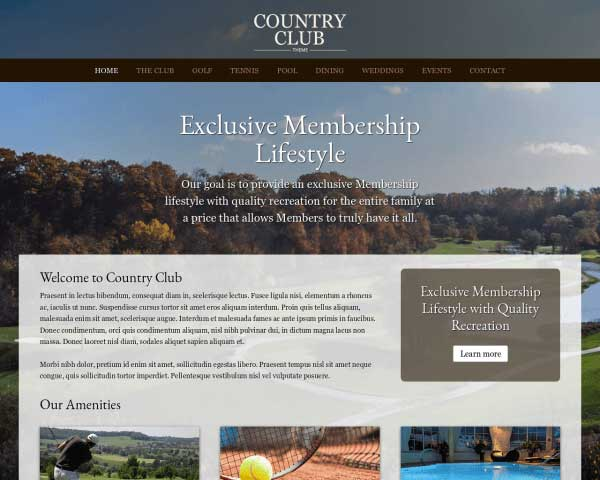 Country Club WordPress Theme thumbnail