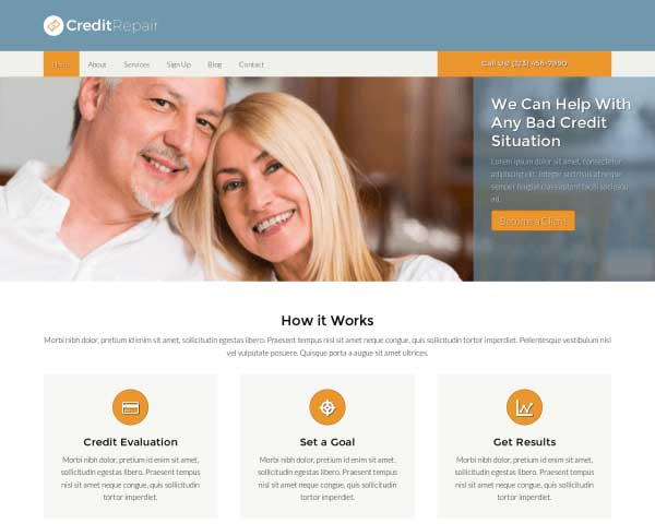 The Credit Repair WordPress Theme - Nexus Themes