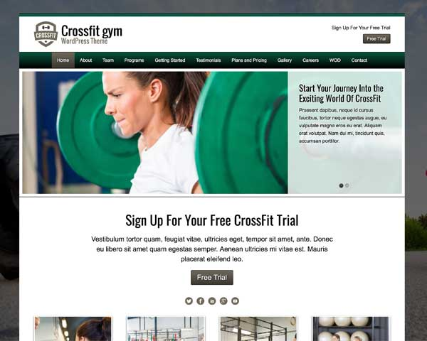 CrossFit WordPress Theme thumbnail