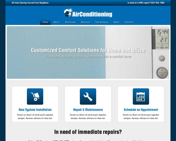 Air Conditioning WordPress Theme thumbnail