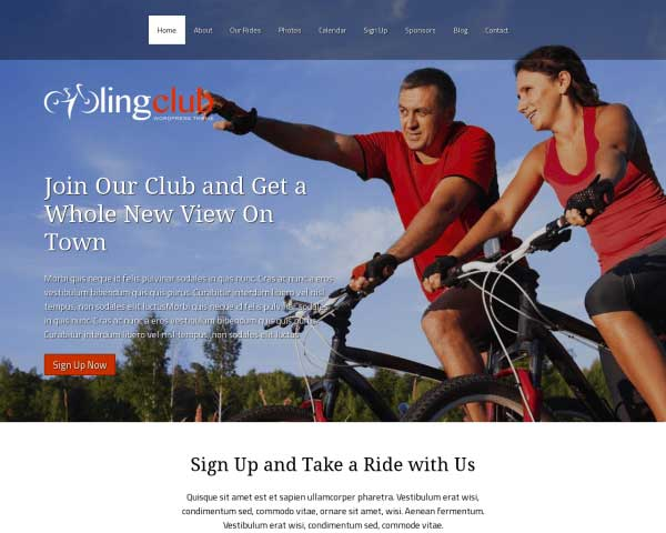 Fietsvereniging WordPress Theme thumbnail
