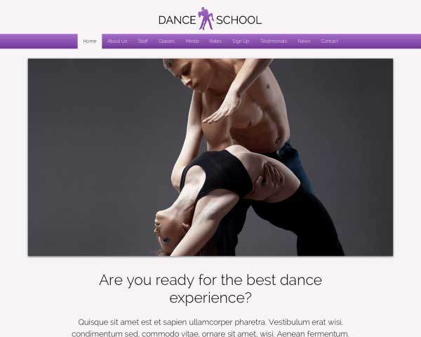 Dansschool WordPress Theme thumbnail
