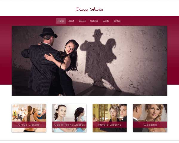 Dansstudio WordPress Theme thumbnail