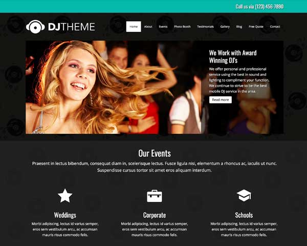 DJ WordPress Theme thumbnail