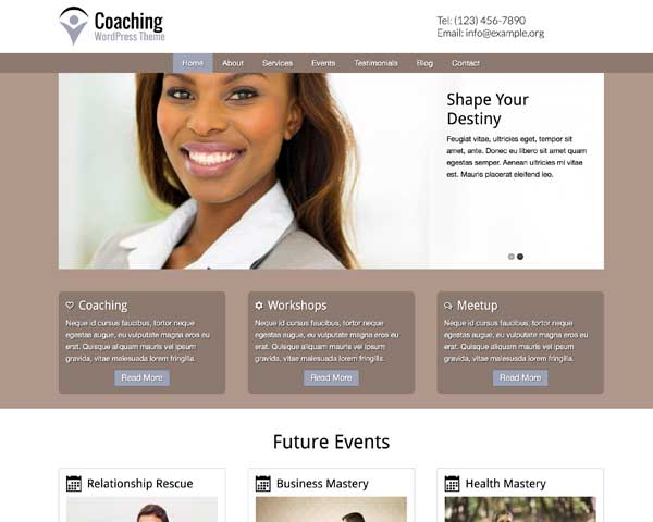 Coaching WordPress Theme thumbnail