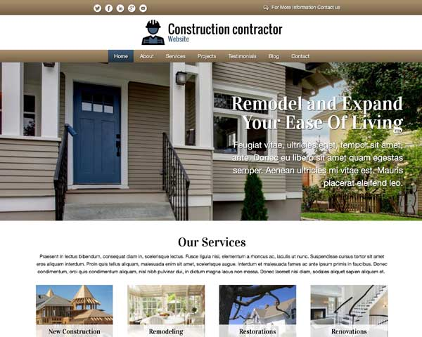 Construction Contractor WordPress Theme thumbnail