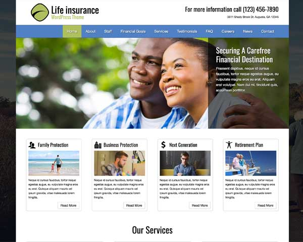 Life Insurance WordPress Theme thumbnail