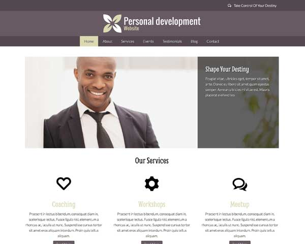 Business Coach WordPress Theme thumbnail