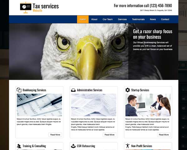 Tax Services WordPress Theme thumbnail