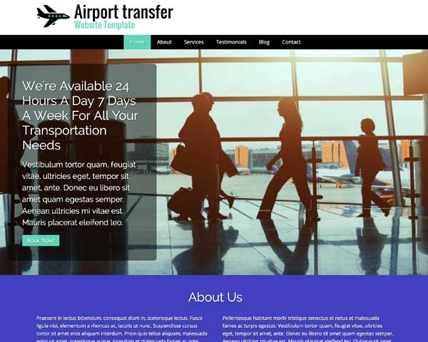 Airport Transfer WordPress Theme thumbnail