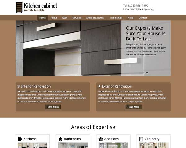 Kitchen Cabinet WordPress Theme thumbnail