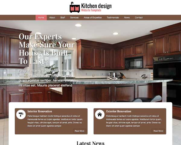 Kitchen Design WordPress Theme thumbnail