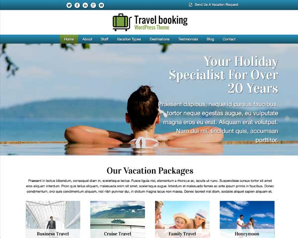 Travel Booking WordPress Theme thumbnail