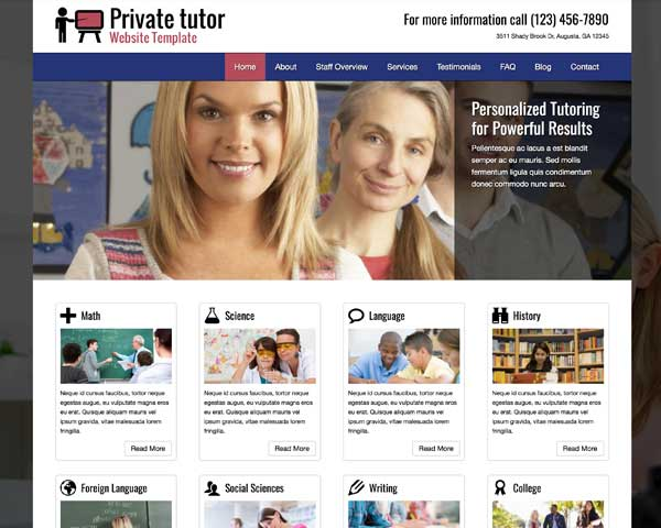 Private Tutor WordPress Theme thumbnail