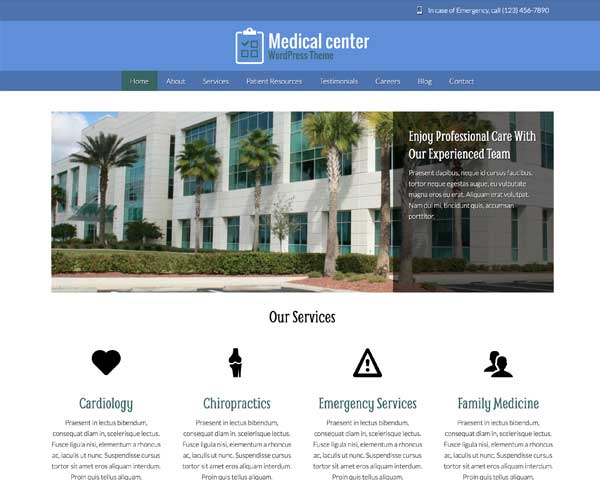 Medical Center WordPress Theme thumbnail