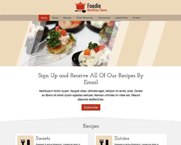 Foodie WordPress Theme thumbnail