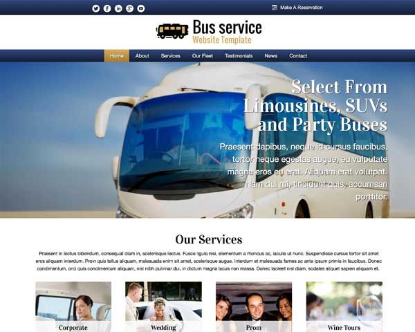 Bus WordPress Theme thumbnail