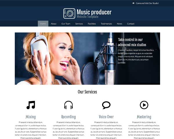 Music Producer WordPress Theme thumbnail