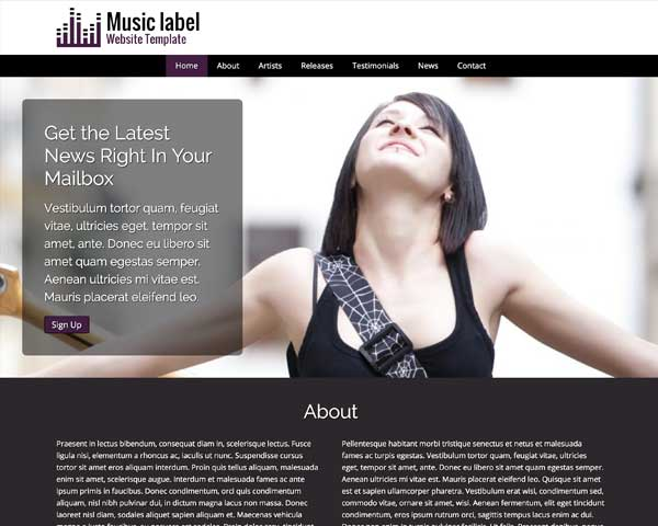 Music Label WordPress Theme thumbnail