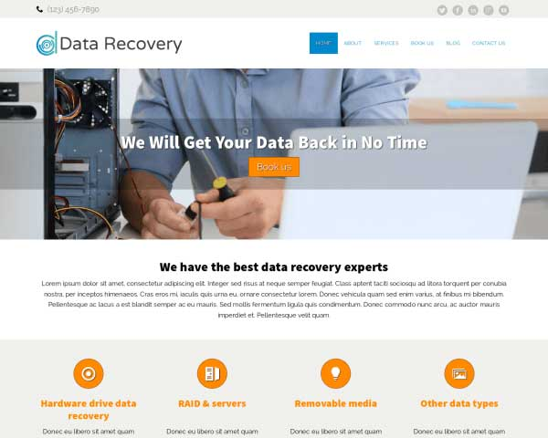 Data Recovery WordPress Theme thumbnail