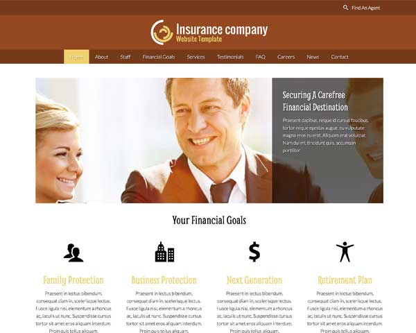 Insurance Agency WordPress Theme thumbnail