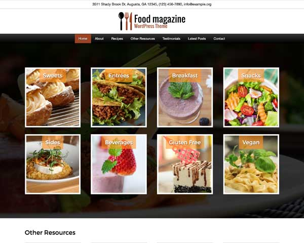 Food Magazine WordPress Theme thumbnail