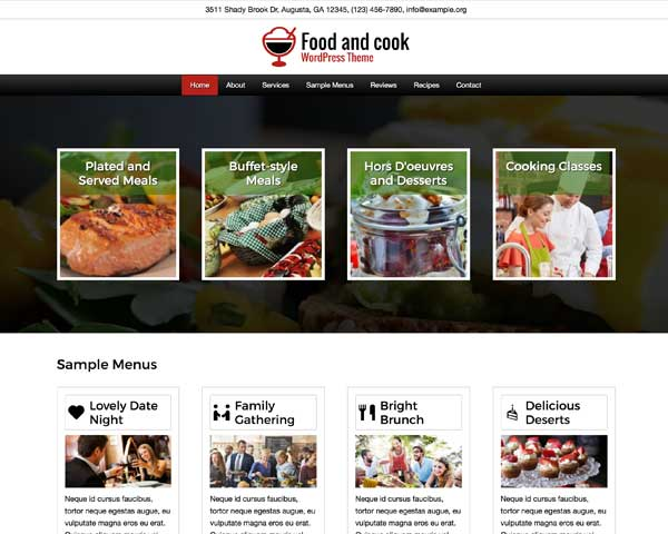 Food and Cook WordPress Theme thumbnail