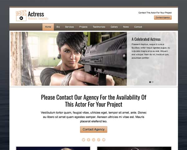 Actress WordPress Theme thumbnail