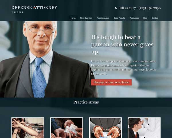 Defense Attorney WordPress Theme thumbnail