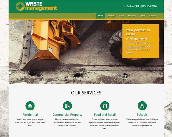 Waste Management WordPress Theme thumbnail