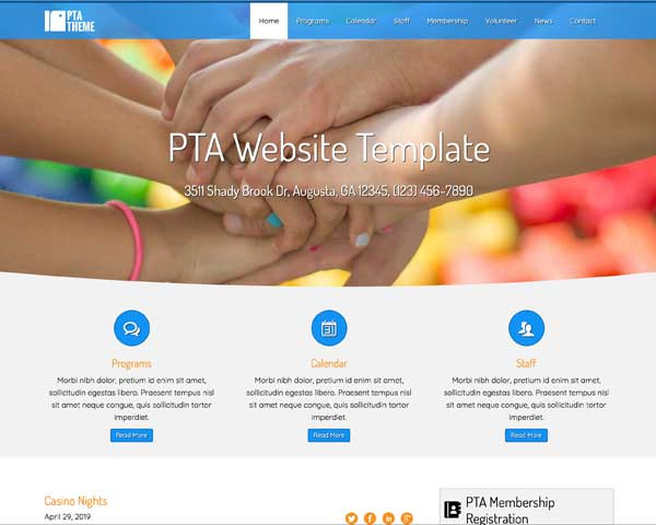 PTA WordPress Theme thumbnail