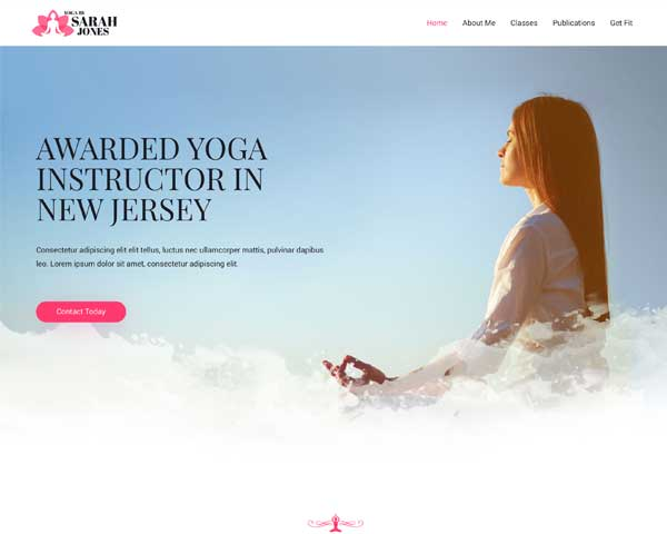 Yoga Instructor Astra Elementor Starter Site thumbnail
