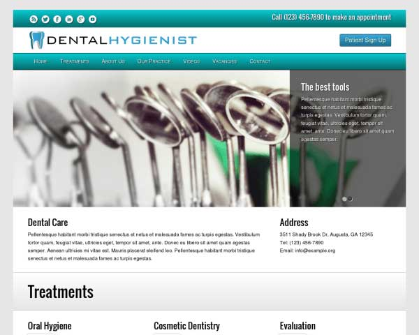 Dental Hygienist WordPress Theme thumbnail