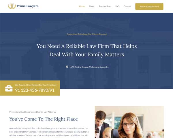 Lawyer Astra Starter Site thumbnail