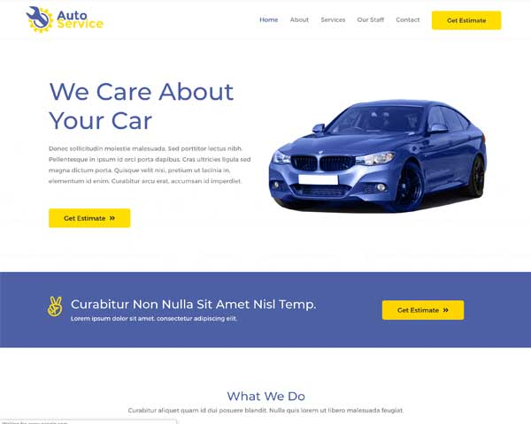 Car Repair Astra Elementor Starter Site thumbnail