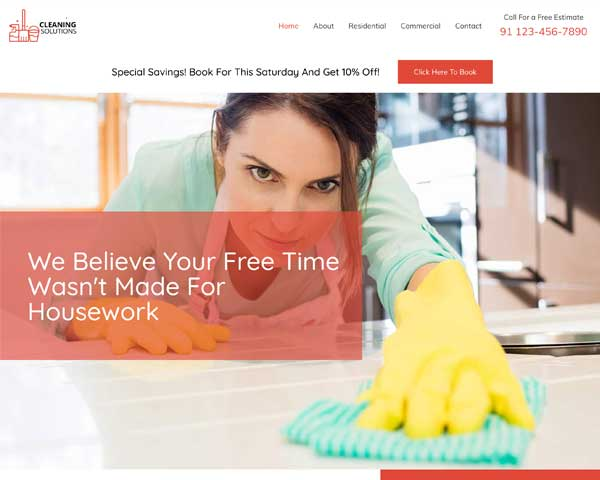 Cleaning Services Astra Elementor Starter Site thumbnail