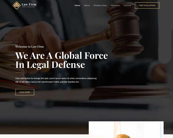 Law Firm Astra Starter Site thumbnail