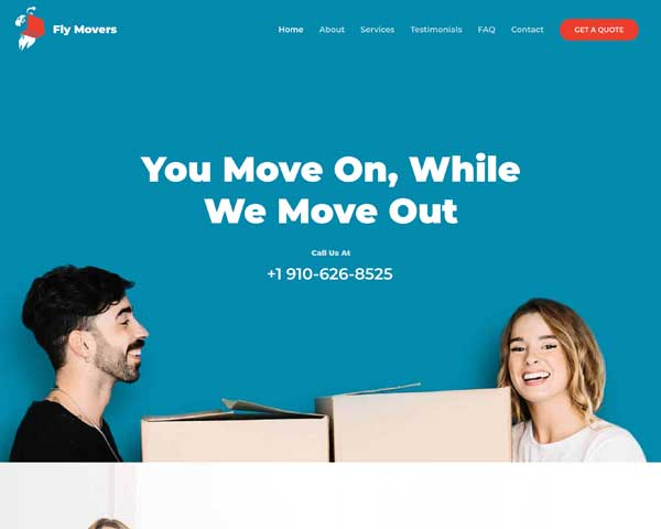 Moving Company Astra Elementor Starter Site thumbnail