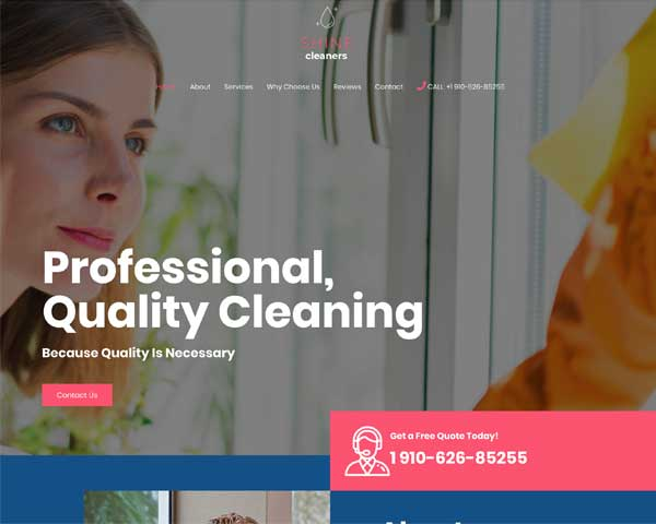 Cleaning Services Astra Starter Site thumbnail