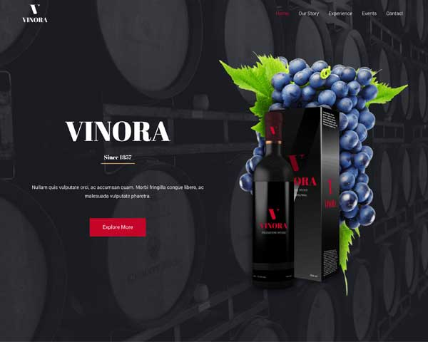 Winery Astra Starter Site thumbnail