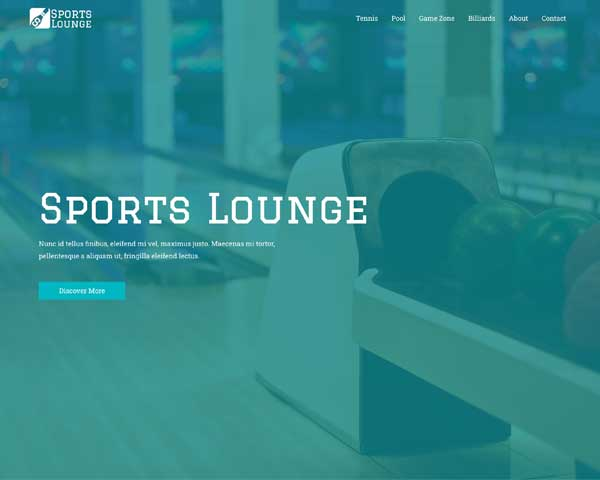 Sports Bar Astra Starter Site thumbnail