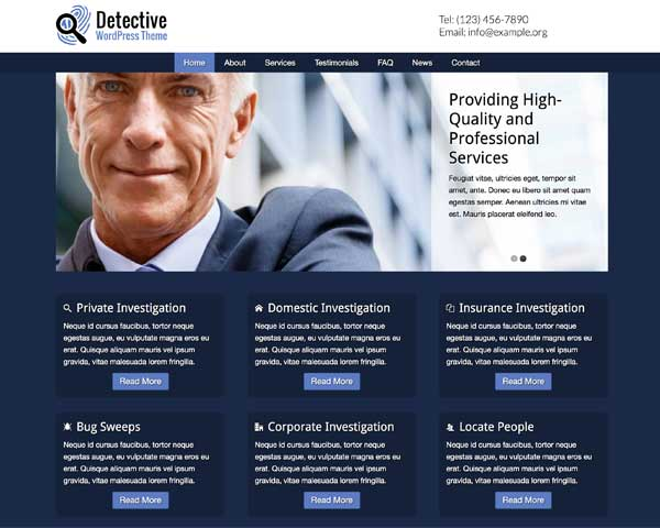 Detective WordPress Theme thumbnail