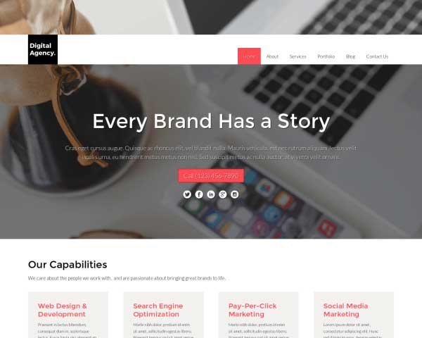 Digital Agency WordPress Theme thumbnail