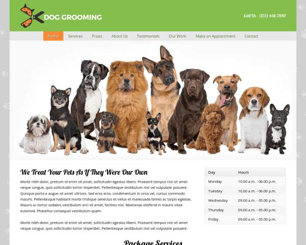 Dog Grooming WordPress Theme thumbnail