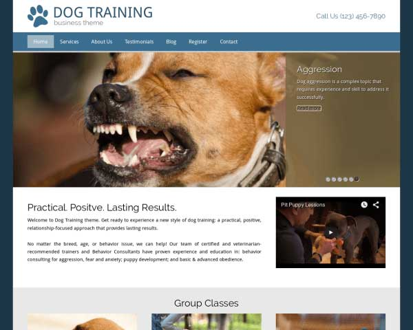Dog Training WordPress Theme thumbnail